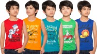 Maniac Boys Printed T Shirt(Multicolor)