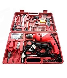 Toolsden AG-A1101-K Agni Powerful Impact Drill Machine Kit with Reversible Function 500 Watt 2600/28
