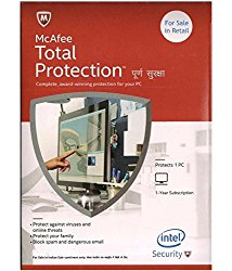 McAfee Total Protection- 1 User, 1 Year CD/DVD
