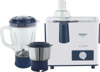 Maharaja Whiteline CLEO 450 W Juicer Mixer Grinder (White, Blue, 2 Jars)