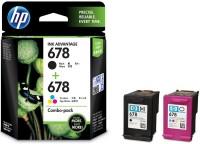 HP 678 Combo Pack Multi Color Ink (Black, Magenta, Cyan, Yellow)