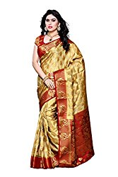 Mimosa Silk Saree - Chiku Saree Fabric @ just Rs.1614