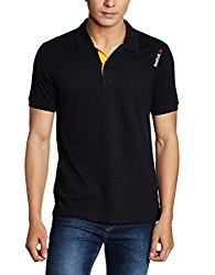 Reebok Men's Cotton Polo (Athletic, Regular fit, Black)