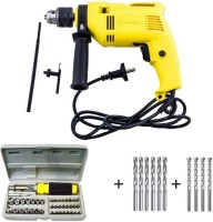 Buildskill Impact drill 13mm + 41pcs Screwdriver Power & Hand Tool Kit (55 Tools)