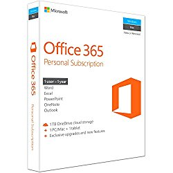 Microsoft Office 365 Personal 32/64-bit (Key Card) -1 user (1 Year)
