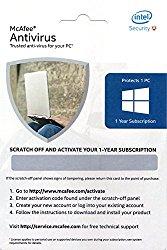 McAfee Anti-Virus - 1 PC, 1 Year (Voucher)