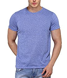 AWG Men's Premium Charcoal Grindle Round Neck T-shirt - Royal Blue