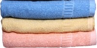 Lily Cotton Bath Towel (Pack of 3, Multicolor)