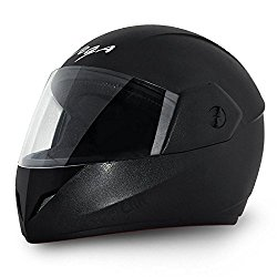 Vega Cliff Full Face Helmet (Black, M) @ Rs.790