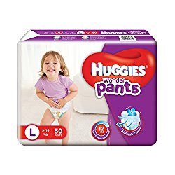 Huggies Wonder Pants Large Size Diapers (50 Count) @ Rs.524