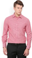John Players Men's Checkered Formal Red Shirt