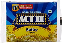Act II Microwave Butter Popcorn, 33g @ Rs.22