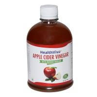 HealthViva Apple Cider Vinegar (With Mother Vinegar) Sports Drink(500 ml Pack of 1) @ Rs.299