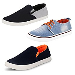 Chevit Men's Trio Casual Running Shoes (Pack of 3 , Sports Shoes & Loafers) @ Rs.799