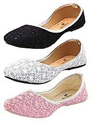Thari Choice Woman and Girls Flat Belly shoes (Pack of 3) @ Rs.499