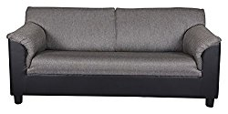 Kurl-on Toledo Plus Three Seater Sofa (Black, Three seat)