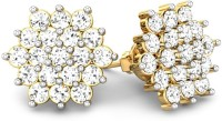 Samaira Gem and Jewelery Cluster Wonder Yellow Gold 14kt Swarovski Crystal Stud Earring