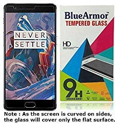 BlueArmor Tempered Glass Screen Guard Protector for OnePlus 3/OnePlus 3T (Transparent) @ Rs.299