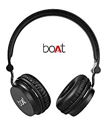 Boat Rockerz 400 On-Ear Bluetooth Headphones (Carbon Black) @ Rs.1299