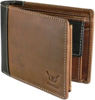 Hidelink Men Formal Brown Genuine Leather Wallet (9 Card Slots) @ Rs.629