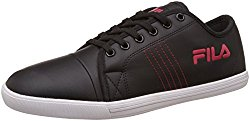 Fila Men's Twik Black and Red Sneakers - 7 UK/India (41 EU)