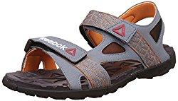 Reebok Men's Ultra Adventure Ast Dust, Nacho, Gry and Blk Flip Flops and House Slippers -8 UK/India