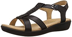 Naturalizer Women's Weslie Black Fashion Sandals - 6 UK/India (39 EU, 5636228)