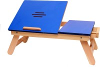 Cart4Craft Blue Matte With Drawer Solid Wood Portable Laptop Table (Finish Color - Blue)