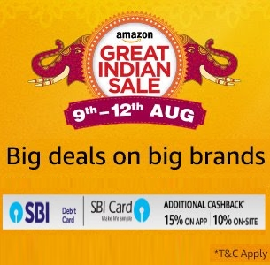 Amazon Great Indian Sale (9th - 12th August 2017)