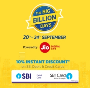 Flipkart Big Billion Days Sale (20th - 24th September 2017)