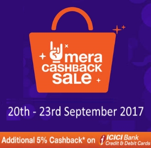 Paytm Mall Mera Cashback Sale (20th - 23rd September 2017)