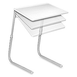 Ebee Adjustable White Table Mate for Home Office Reading Study Desk Laptop Dining