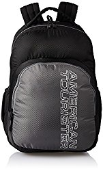 American Tourister 27 Ltrs Black Casual Backpack (AMT STRATOS BP-01 BLACK/GREY) @ Rs.810