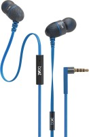 boAt BassHeads 220 Headset with Mic(Blue, In the Ear)