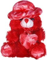 Lata Red Cap Teddy - 34 cm(Red)