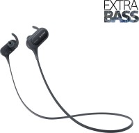 Sony MDR-XB50BS Wireless Headset with Mic (Black, In the Ear)