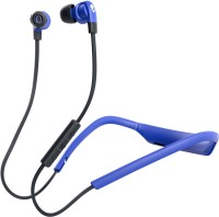 Skullcandy S2PGW-K615 Smokin' Buds Wireless Headset with Mic (Blue Black, In the Ear)