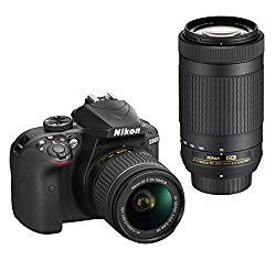 Nikon D3400 Digital Camera Kit (Black) + Lens AF-P DX Nikkor 18-55mm f/3.5-5.6G VR + AF-P DX Nikkor